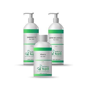 Limpeza Facial Completa - Tea Tree Oil - Pele Oleosa e Acneica