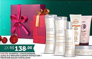 Kit Verão - Hinode -Shampoo, Condicionador, Leave-In e Máscara Summer Protection + Protetor Solar e Esfoliante