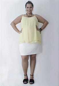 Regata Chiffon Plus Size - Amarela