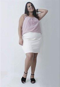 Regata Chiffon Plus Size - Rosa
