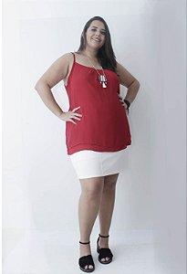 Regata Chiffon Plus Size - Vermelha