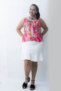 Regata Estampada Plus Size - Vermelha