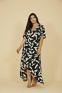 Vestido Plus Size Folhas