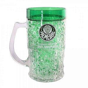 Caneca chopp de vidro Palmeiras 340ml na caixa - Camilo s Variedades 8462b6c175913