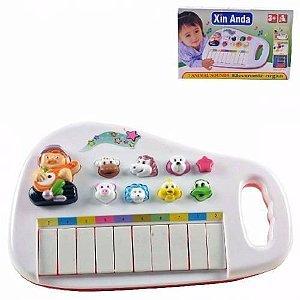 Piano Teclado Musical Infantil Fazendinha