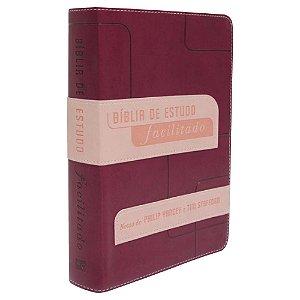 Bíblia de estudo facilitado (rosa)