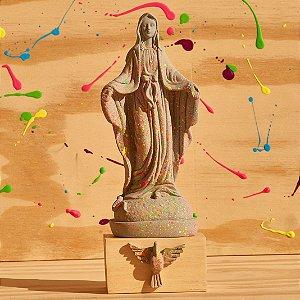 Nossa Senhora das Graça - Cinza respingada de Neon