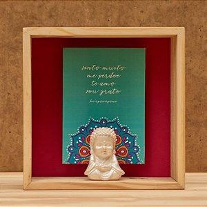 Quadro Ho'oponopono com Buda Perolado