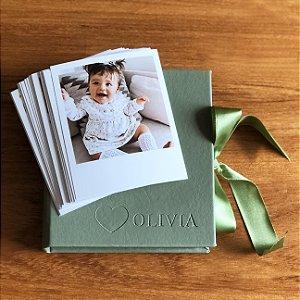 Caixa de Memórias + 30 fotos polaroid