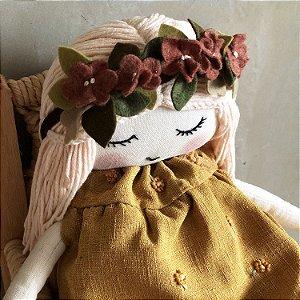 Boneca Florzinhas Amarelas
