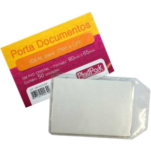 50 Envelopes Porta Documentos Ideal Para Cnh E Cpf