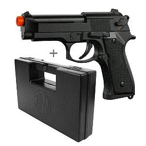 Pistola de Airsoft Beretta M92F + CASE