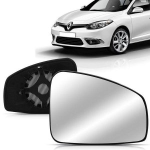Lente Retrovisor Fluence com Base (2011/2014) - Original FICOSA