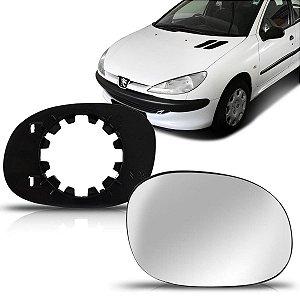 Lente Retrovisor Peugeot 206 com Base (2004/2013) - Original FICOSA
