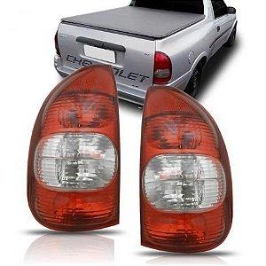 Lanterna Traseira Corsa Pick Up Bicolor Cristal (2000/2003) - RN