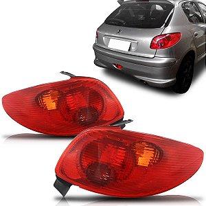 Lanterna Traseira Peugeot 206 Vermelha (2004/2012) - FITAM