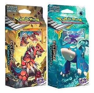 Deck Pokémon Sol E Lua Eclipse Cósmico Groudon e Kyogre Copag