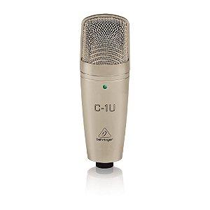 Microfone Condensador para Estúdio C-1U Behringer USB