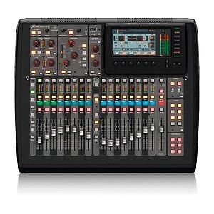 Mesa de Som digital Behringer X32 Compact c/ 40 canais e 16 preamps