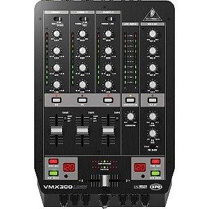 Mixer DJ Behringer VMX300USB Mesa de Som DJ 3 canais