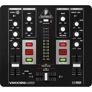 Mixer DJ Behringer VMX100USB Mesa de Som DJ 2 canais