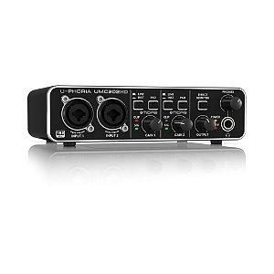 Interface de Áudio Behringer USB U-Phoria UMC202HD 24-bit/192 kHz com pré Midas