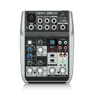Mesa de Som Behringer Q502USB com 2-in/2-out