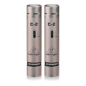 Microfone Condensador para Estúdio Behringer C-2 (par)