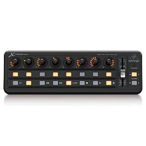 Controlador Behringer X-TOUCH MINI c/ 16 botões iluminados 8 encoders e 1 fader slider 60mm
