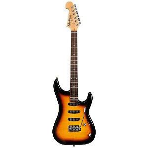 Guitarra Washburn S3XTS Flame Tobacco Sunburst em Alder com captacao H/S/S