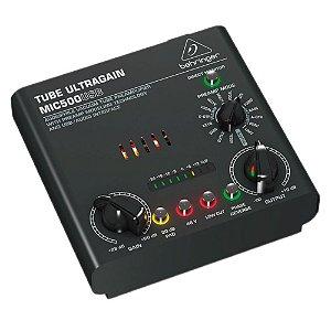 Pré-ampificador de Microfone Valvulado Behringer MIC500USB