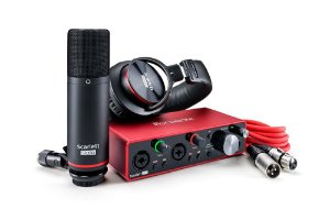KIT de Interface de Áudio USB Focusrite Scarlett 2i2 Studio Pack 3ª Geração