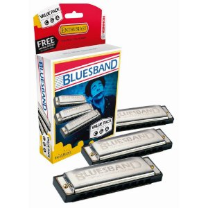 Kit Hohner com 3 Harmônicas Blues Band 559/20 (A C G)