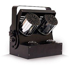 Luz de Efeitos PLS POWER SPIN DMX com LED RGBW Bivolt