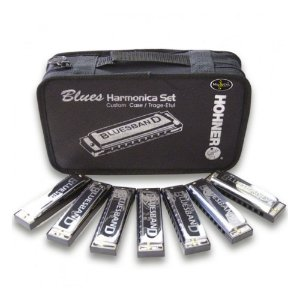 Kit Hohner Blues Band com 7 Harmônicas (C, D, E, F, G, A, BB)