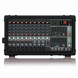 Mesa de Som amplificada Behringer PMP2000 de 14 canais