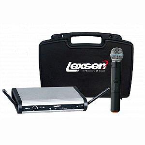 Microfone sem Fio Lexsen LWM-58 UHF Frequência fixa