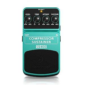Pedal para Guitarra Behringer CS400 Compressor e Sustain