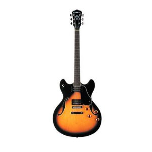 Guitarra semi acústica Washburn HB30TS Tobacco sunburst com bag