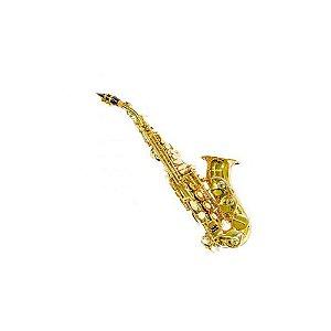 Sax Soprano curvo Bb Benson BSSC-1L laqueado com case luxo