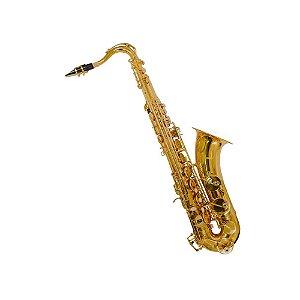 Sax Tenor Bb Benson BSTC-1LN com chave de F# agudo chaves niqueladas e case luxo