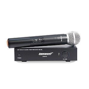 Microfone sem fio de mão UHF Lexsen LM-WF58 com um bastão