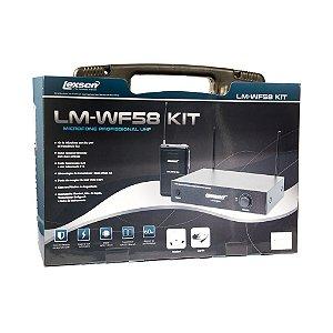 Kit microfone sem fio UHF Lexsen LM-WF58 kit com headset e lapela