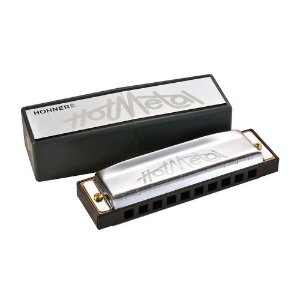 Harmônica Diatônica Hohner Hot Metal D (Ré) Gaita de Boca M57203