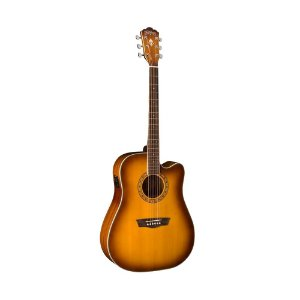 Violão Dreadnought Washburn WD10SCEATB tobacco sunburst