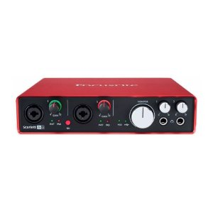 Interface de Áudio Behringer USB Focusrite Scarlett 6i6 gen. 2 c/ 6 in/6 out