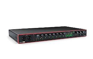 Interface de Áudio USB Focusrite Scarlett 18i20 gen. 3 c/ 18 in/20 out