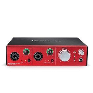 Interface de Áudio Thunderbolt Focusrite Clarett 2Pre c/ ISA preamps