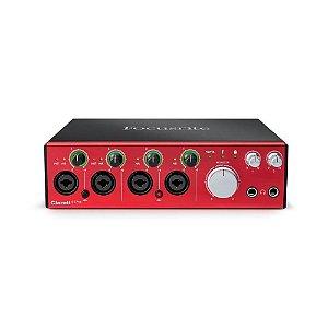 Interface de Áudio Thunderbolt Focusrite Clarett 4Pre c/ ISA preamps e 18 in/8 out