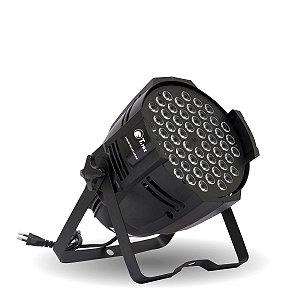 Refletor LED T-Rex Canhão Par LED 54x1W RGBW DMX com Strobo BIVOLT